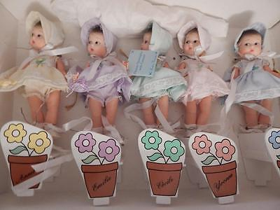 new set lot MADAME ALEXANDER DIONNE Quints 75TH anniversary Dolls WITH CAROUSEL