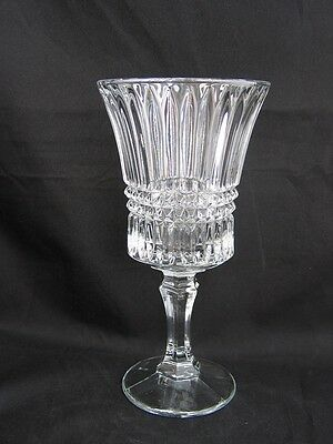 Fostoria Clear Heavy Crystal Stem Goblet - Aspen Pattern(2861) - dated 1974-1982