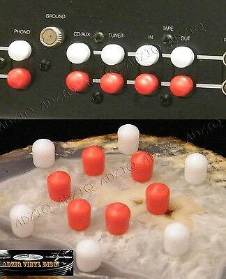 12 Paires Rca Caps Silicone Protection Terminal Rca Amp Home Cinema