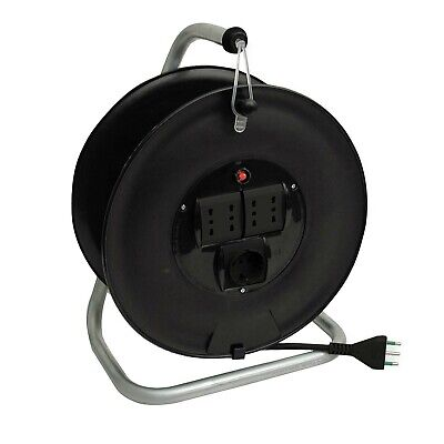 Fme cable reel home da 25 ml cable 3x1,5 4 sockets bypass 1 schuko extension