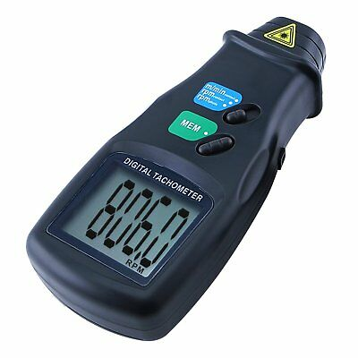 2in1 Handheld Digital Photo Laser Tachometer NonContact Tach Tool Line Speed RPM