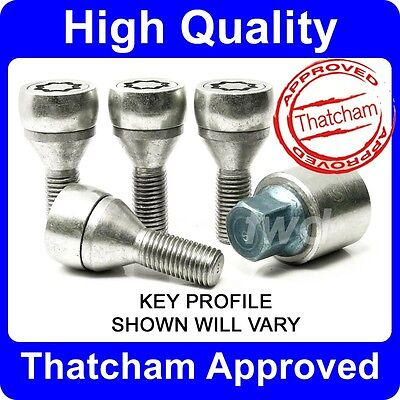 HIGH SECURITY ALLOY WHEEL LOCKING BOLTS FOR BMW 5-SERIES (1972-2010) NUT [H0e]