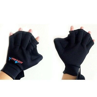 Soft Neoprene Swim Webbed Fins Hand Gloves Surfing Swimming Quick Fast Paddle