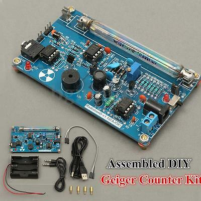 Assembled Geiger Counter + Tube DIY Kit For Nuclear Radiation Detector Dosimeter