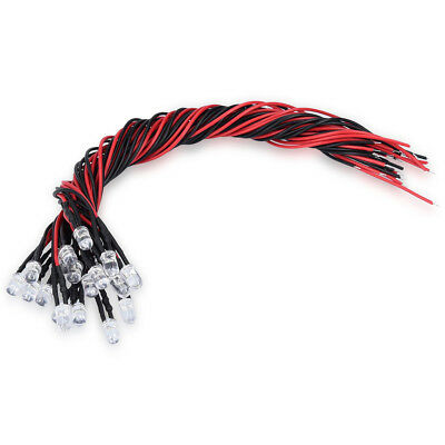 Kwmobile 20x 5mm LEDs with 20cm cable 12V