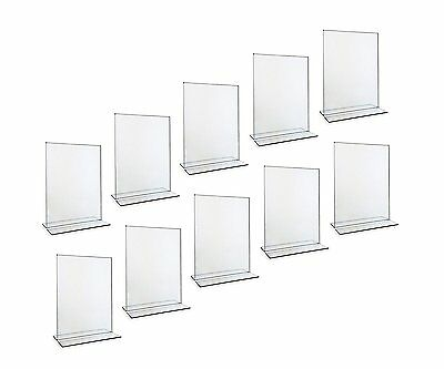 OpenBox Beryland Acrylic Sign Holder and Menu Stand, 5 x 7 inches, 10-Pack