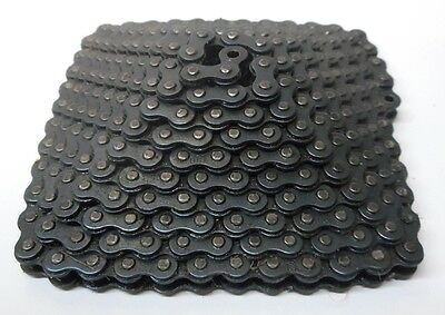 "Unknown Brand #25 Riveted Chain, 63 Length, 1/4"" Pitch, 1/8"" Roller Width"