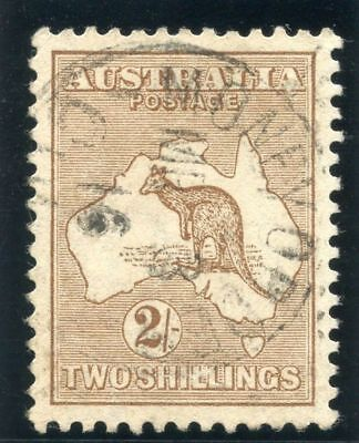 "Australia 1915 ""Roo"" 2s brown (Die II) very fine used. SG 29. Sc 43."