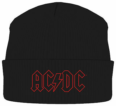 AC/DC ACDC Classic Band Logo BEANIE MÜTZE KNITTED SKI HAT OFFICIAL MERCHANDISE