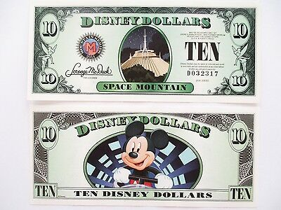 2014 $10 Disney Dollars Mickey Space Mountain NEW MINT GEM PMG Uncirculalated