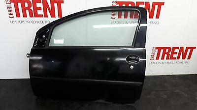 2006 PEUGEOT 107 3 Door Hatchback Black N/S Passengers Left Front Door