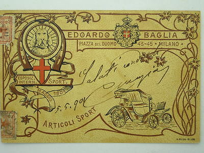 Advertising-Industrial Products-Sport-Exposition-Baglia-Milan 1901-O4U-S51284