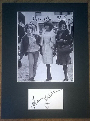 Mary Wilson Hand Signed The Supremes Display AFTAL COA Music Motown