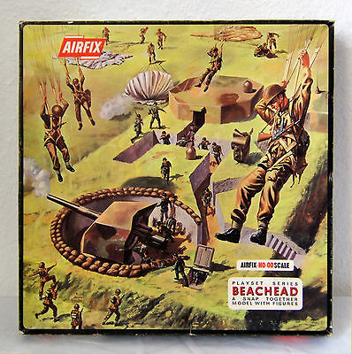 Airfix 1785, Beachead Set, British Paratroops, German Infantry Vers. 1, 1969 OVP