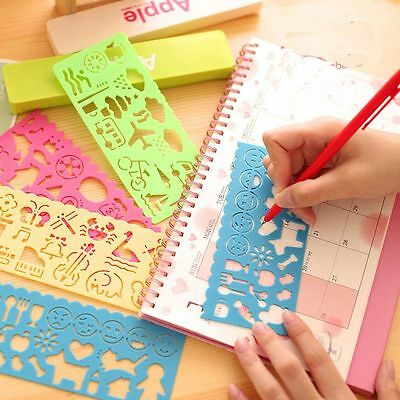4PCS Toy Spirograph Template Plastic Children Drawing Ruler Stencil