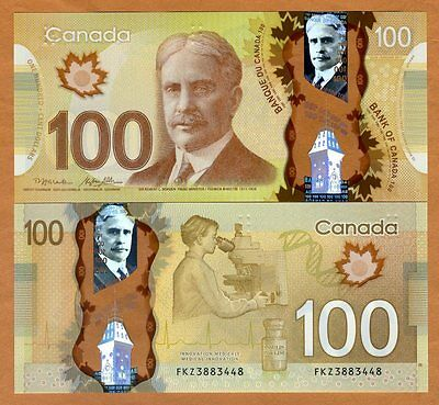 Bank of Canada, $100, 2011 ( 2014), Polymer, P-110-New, UNC