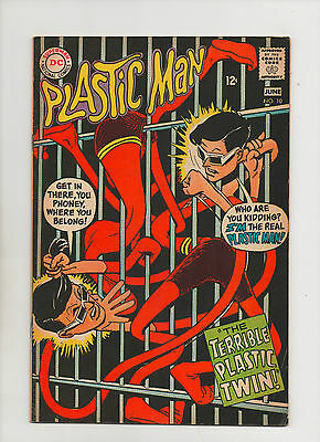 Plastic Man #10 - Terrible Plastic Twin - (Grade 7.0) 1968