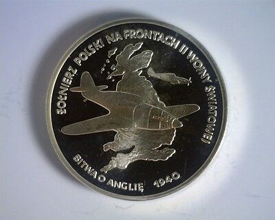 ICOIN - POLAND 100,000 Zlotych 1991 Proof - Silver - 1940 Battle of Britain