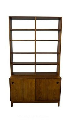 Rosewood Bookcase Display Danish Modern Mid Century