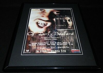 Ol Dirty Bastard 2002 Framed 11x14 ORIGINAL Vintage Advertisement