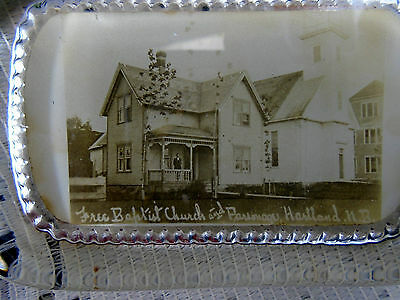 Photo Paperweight Free Baptist Church Parsonage Hartland NB New Brunswick