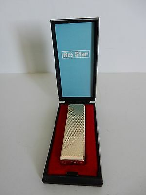 Vintage Rex Star Gold Colored Butane Lighter-New In Box