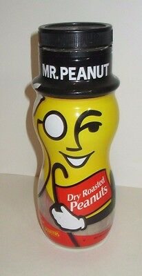 Mr Peanut Planters Vintage First Edition Wrapped Figural Glass Jar Empty