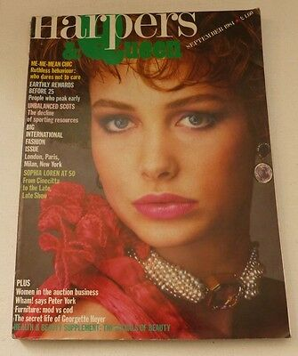 Harpers and Queen - September 1984   VINTAGE WOMENS MAGAZINE