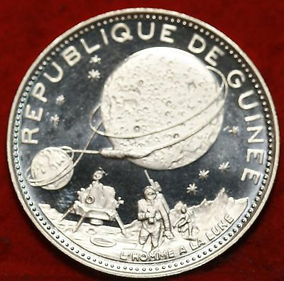 Uncirculated 1969 Republic Of Guinea 250 Francs Silver Proof Free S/H
