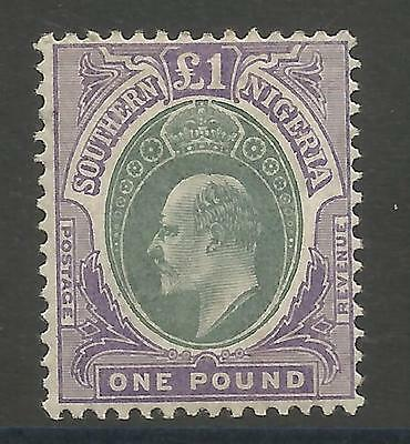Southern Nigeria  Sg32   1906 Evii £1 Green&violet Fresh Mint Cat £350