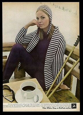 1966 White Stag ski wear woman skier photo vintage print ad
