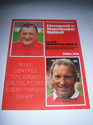 1979 FA CUP SEMI-FINAL REPLAY - LIVERPOOL v MANCHESTER UNITED - PROGRAMME