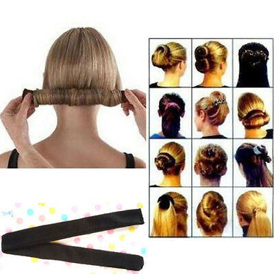New Fashion Magic DIY Hair Styling Donut Former Foam French Twist Bun Maker Tool