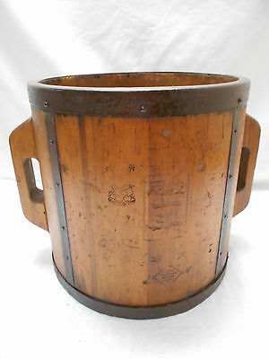 Collectable Vintage Japanese Rice Bucket Sugi Wood #20