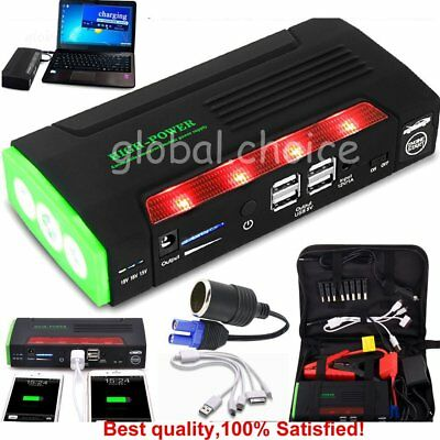 68800mAh Car Auto Jump Starter Booster 4USB Power Bank Battery Charger SOS Torch