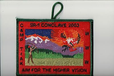 OA 2003 SR-1 Conclave Camp Tiak patch (Red)