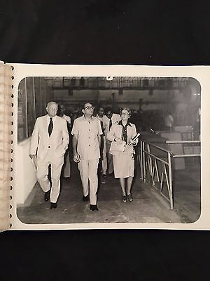 Vintage B&w Photo Album-Company Executives Visit Appliance Factory-Fuzzy Cover