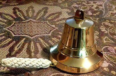 """Solid Brass Bell 5"""" With Entwined Rope"""