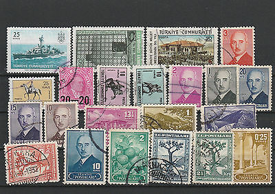 Turkey Mix canceled Postage Stamps Stamps Los Right 2554
