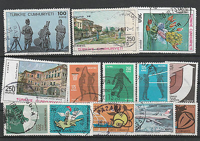 Turkey Mix canceled Postage Stamps Stamps Los Right 2560