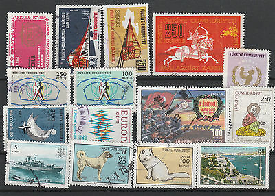 Turkey Mix canceled Postage Stamps Stamps Los Right 2561