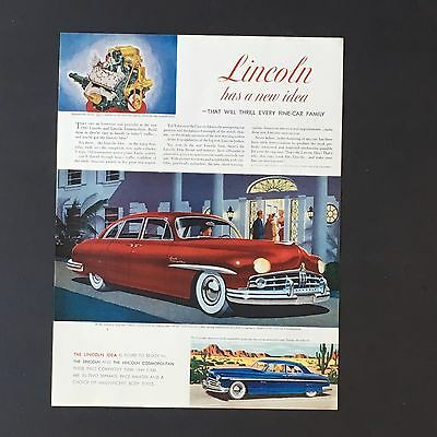 1948 Lincoln Cosmopolitan Advertisement Color Artwork Fine Car Print AD