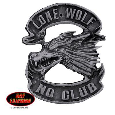 HOT LEATHERS Motorcycle Lapel Biker Badge Pin LONE WOLF PNA1048