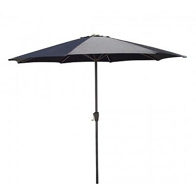 Paris Prix - Parasol Simple 270cm Noir
