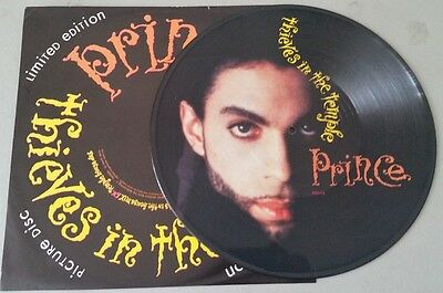 "PRINCE ""THIEVES IN THE TEMPLE"" UK 12"" Picture Disc vinyl"