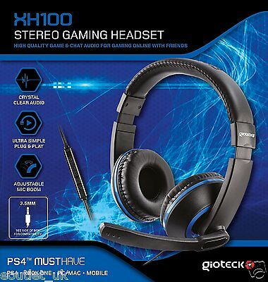 Gioteck XH100 Wired Stereo Headset (PS4/Xbox One/PC DVD) - Blue/Black