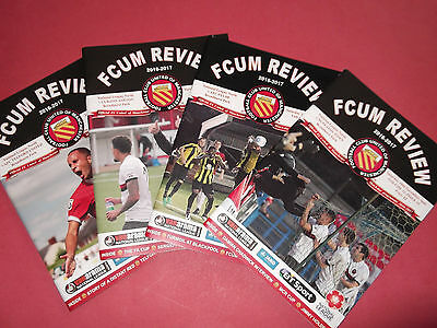 2016/17 Fc United Of Manchester Home Programmes Choose From