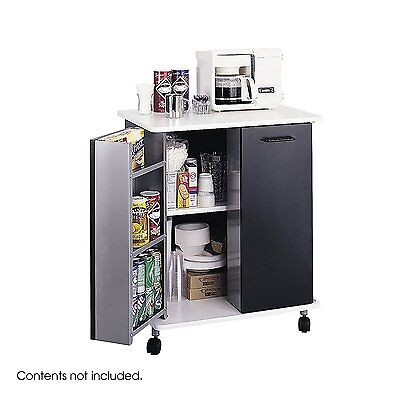 OpenBox Safco Products 8963BL Refreshment Hospitality Cart, Black
