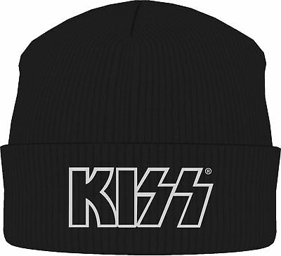 KISS Classic Band Logo BEANIE MÜTZE KNITTED SKI HAT OFFICIAL MERCH