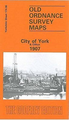 Map Of City Of York & Clifton 1907